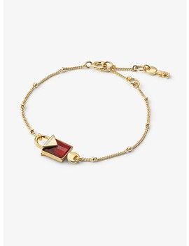 Precious Metal Plated Sterling Silver Lock Bracelet by Michael Kors