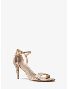 Simone Glitter Mesh Sandal by Michael Michael Kors