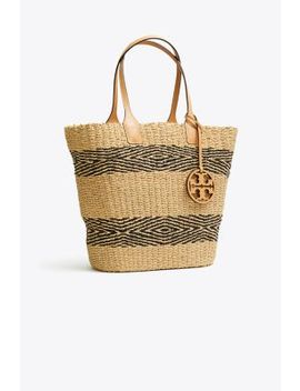 Miller Straw Stripe Tote by Tory Burch