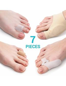 Bunion Corrector And Bunion Relief Kit   7 Piece Set   2 Sleeves With Gel Pad   2 Toes Spacers With Hallux Valgus Shield   2 Big Toe Separators   1 Blister... by 5 Stars United