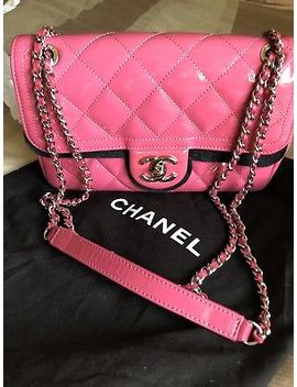 Rare Chanel Patent Pink Mini Boy Small Classic Flap Cross Body Limited Edition by Chanel