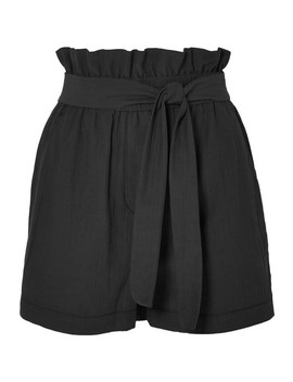 Belted Crinkled Cotton Blend Shorts by 3.1 Phillip Lim