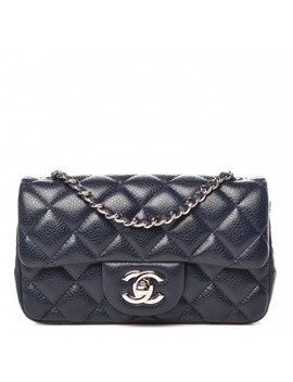 Chanel Caviar Quilted Extra Mini Flap Navy by Chanel