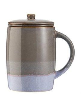 Reactive Grey Lavender Tea Mug by Indigo