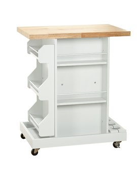 Diaz Kitchen Cart With Wood Top by Wayfair