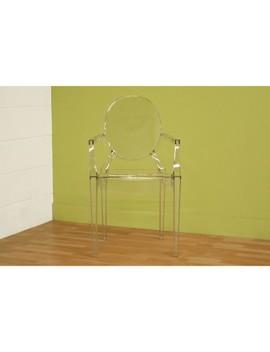 Set Of 2 Dymas Modern Acrylic Armed Ghost Chairs Clear   Baxton Studio by Baxton Studio