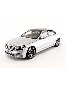 2018 Mercedes S Class Amg Line Silver Metallic 1/18 Diecast Model Car By Norev 183479 by Norev