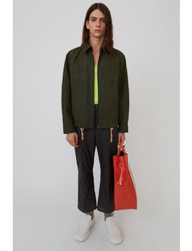 Cotton Jacket Olive Green by Acne Studios