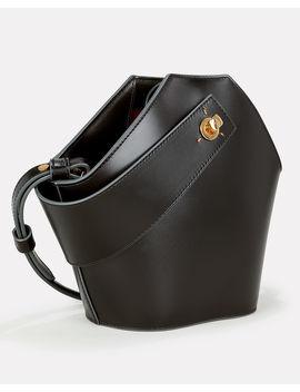 Johnny Mini Black Leather Clutch Bag by Danse Lente