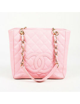 "Chanel 2003 2004 Quilted Caviar Leather ""Petite Shopping"" Tote Bag by Chanel"