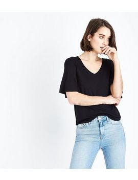 Black Reverse Crossover Strap T Shirt by New Look