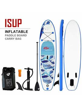 Goplus Inflatable Stand Up Paddle Board Latest Inkjet Process Anti Fading I Sup With 3 Fins Thuster, Adjustable Paddle, Hand Pump And Carry Backpack by Goplus