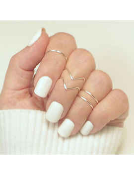12pcs Silver/Gold Boho Stack Plain Above Knuckle Ring Midi Finger Tip Rings Set by Ebay Seller