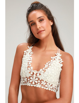 Miss Dazie White Crochet Lace Bralette by Free People