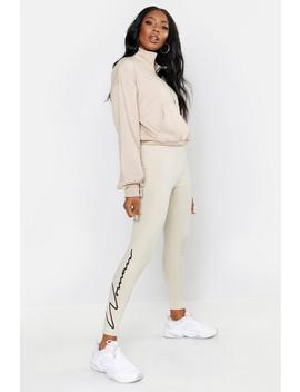 Woman Script Leggings by Boohoo