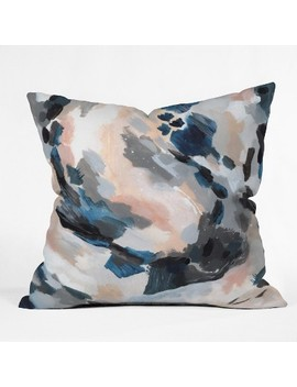 Laura Fedorowicz Abstract Throw Pillow Blue   Deny Designs by Deny Designs