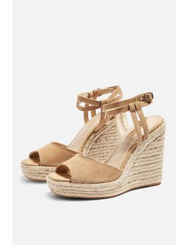 Whitney Beige Espadrille Wedges by Topshop