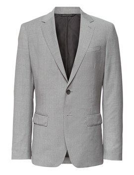 Slim Italian Wool Suit Jacket by Banana Repbulic
