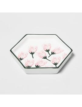 Hexagon Jewelry Storage Tray Protea Flower   Opalhouse by Opalhouse