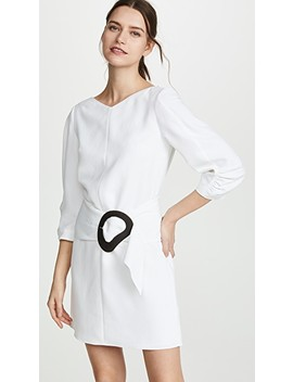 Shirred Sleeve Dress With Removable Belt by Tibi