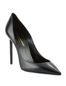 Zoe Leather Point Toe Pumps by Saint Laurent