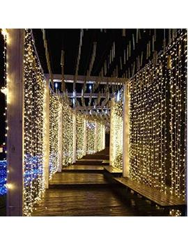 300 Led Window Curtain String Light Wedding Party Home Garden Bedroom Outdoor Indoor Wall Decorations (Warm White) by Unknown