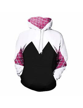 Gwen Stacy Spider Man Ps4 Iron Spider Pullover Hoodie Sweatshirt Kangaroo Pocket by Aesthetic Cosplay