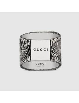 """""""R"""" Letter Ring In Silver by Gucci"""