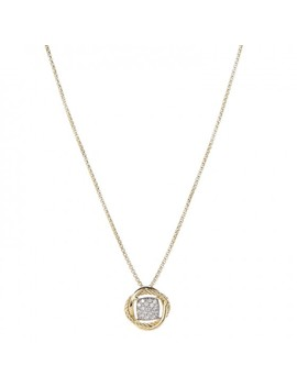 David Yurman 18 K Yellow Gold Diamond Pave 7mm Infinity Pendant Necklace by David Yurman