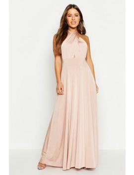Petite Multiway Slinky Maxi Dress by Boohoo