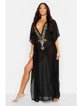 Embellished Maxi Beach Kaftan by Boohoo