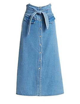 Alma Denim Midi Skirt by Nanushka