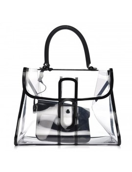 Delvaux Pvc X Ray Brillant Satchel Black by Delvaux
