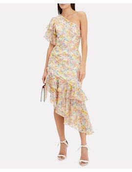 Clayton One Shoulder Floral Dress by Amur