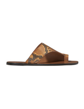 Rosa Cutout Snake Effect Leather Sandals by Atp Atelier
