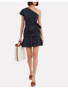One Shoulder Gathered Mini Dress by Derek Lam 10 Crosby