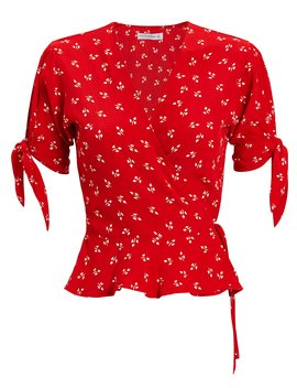 Lucy Floral Wrap Top by Faithfull The Brand