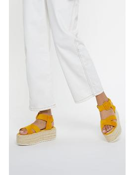 Up Your Game Woven Platform Sandals by Nasty Gal