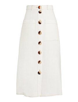 Linen Midi Skirt by Nicholas