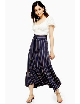 Stripe Tiered Maxi Skirt by Topshop