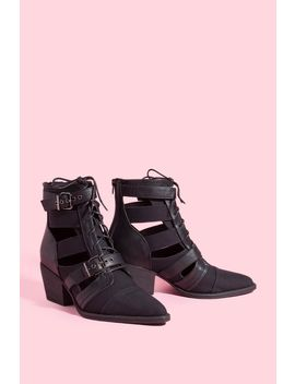 Leema Pointed Buckle Bootie by A'gaci