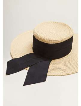 Kontrast şeritli şapka by Mango