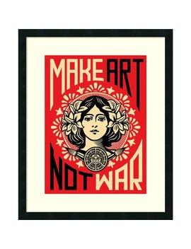 Framed Art Print 'make Art Not War' By Shepard Fairey 24 X 30 by Amanti Art