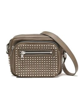 Studded Leather Shoulder Bag by Mc Q Alexander Mc Queen