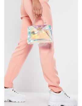 Pink Transparent Iridescent Mini Handbag by Missguided