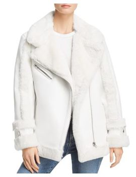 Bto Faux Shearling Moto Jacket   100 Percents Exclusive by Heurueh