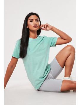 Baby Blue Washed Basic T Shirt by Missguided