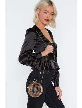 Want We're Ball Ing Metal Structured Bag by Nasty Gal