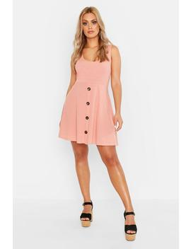 Plus Plunge Button Down Skater Dress by Boohoo