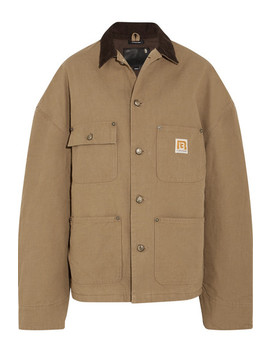 Workman Oversized Corduroy Trimmed Cotton Canvas Jacket by R13
